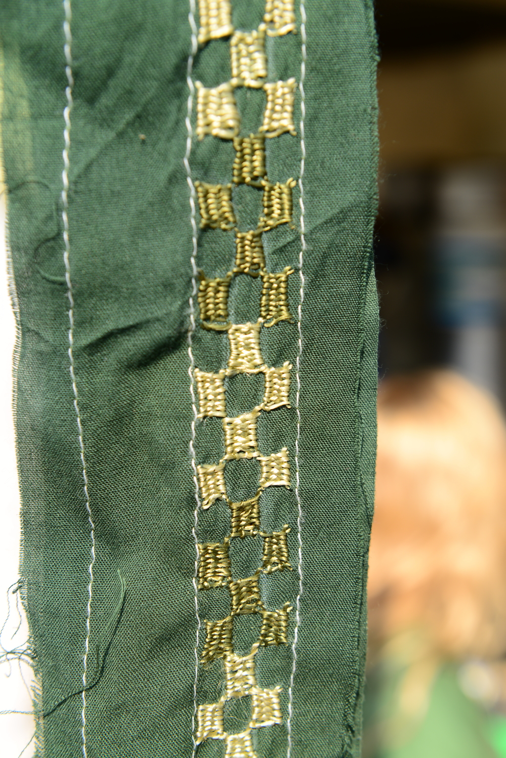 A belt from the REVIVAL 365 collection, embroidered by Laxmi Bhen and her daughters