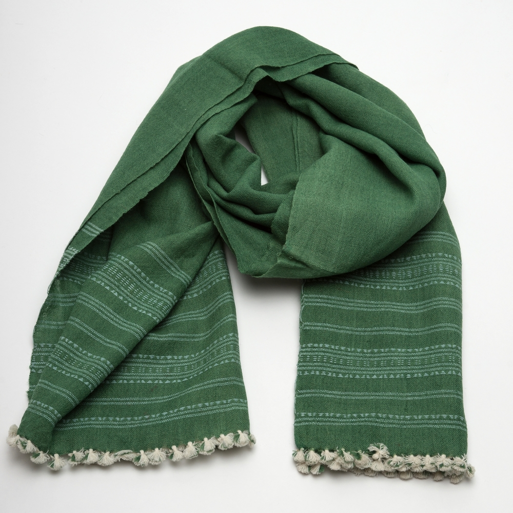 A beautifully woven shawl from the family, featured in REVIVAL Style's collections