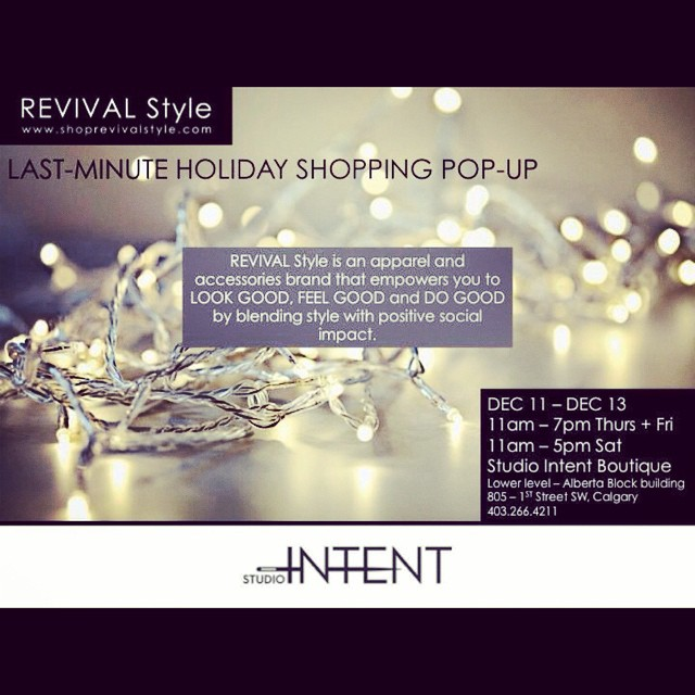 Find unique, beautiful and well made holiday gifts at our Holiday Pop-Up Shop this wk at @studio_intent #style #socialgood #lookgood #feelgood #dogood