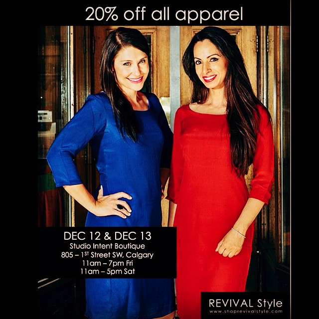Today and tomorrow only - enjoy 20% off all REVIVAL Style apparel. Shop the collection at our Holiday Pop-Up Shop, held at @studio_intent boutique.