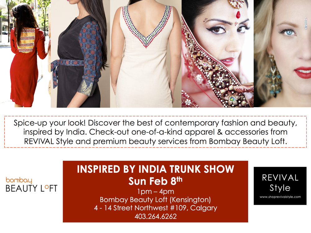 30% off all apparel on Sunday Feb 8th during our Inspired by India trunk show