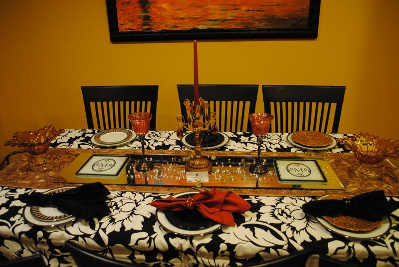 2009 Thanksgiving Tablescape Planning