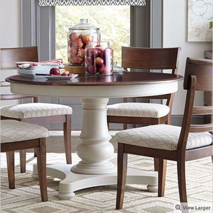 Annie sloan miracle chalk painted kitchen table monnie like basset round dining table workwithnaturefo