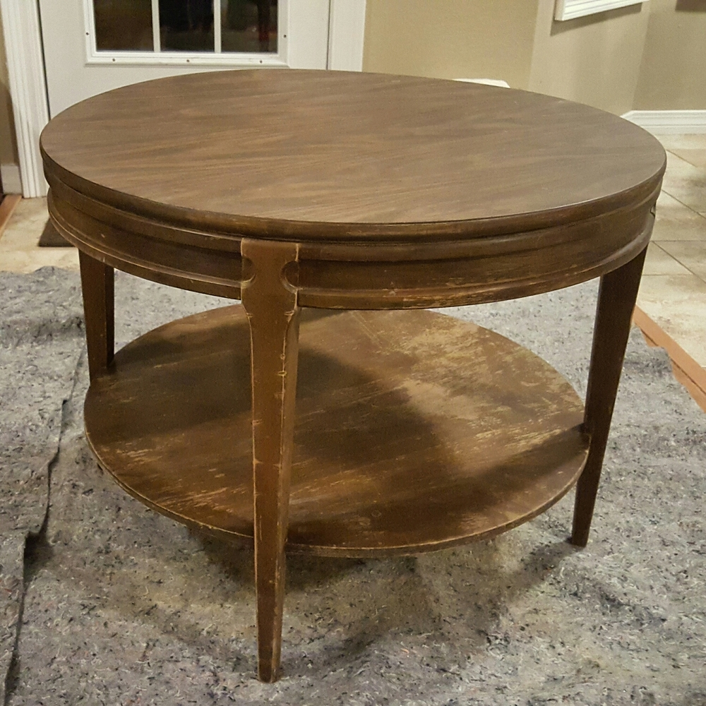 Vintage Mersman Round Coffee Table That Gumbo Life