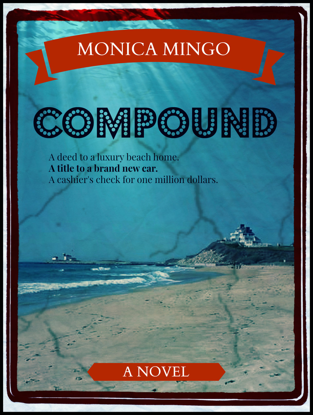 Compound  follows five strangers as they are each given a deed to a luxury beach home, a title to a new car and a cashier's check for one million dollars with promises of more to come.  Golden hasn't had the best life, yet is as loving and trusting as a puppy. She's unemployed and tanking financially while waiting for her fiancé to return and help save her family home from foreclosure, marry her and start a family. When she's contacted by the lawyer representing an anonymous benefactor, she attributes the windfall to the grace of God. When the lawyer also informs her that her fiancé is living with another woman and has a baby on the way, the blow knocks her sideways.  Golden warms up slowly to her neighbors at The Pointe, the luxury beach community where her new vacation home is located. They start working out together, sharing intimate secrets, having regular dinners and forming close bonds that celebrate each other and their differences. The enjoyment of their beach summer is rocked by one explosive, climactic event leaving someone dead, many confused and all conflicted once they discover the reason they have been brought together.   We've all been hurt a multitude of times and most things too good to be true generally are, but what if they are given in secret to right past wrongs? What if the worst of your life was evaluated and payment was made to soften all those blows? But payment from whom? For what ills? And what consequences does accepting payment bring?