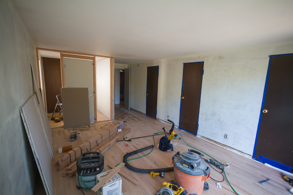 From the back of the room.  New closet is going in!