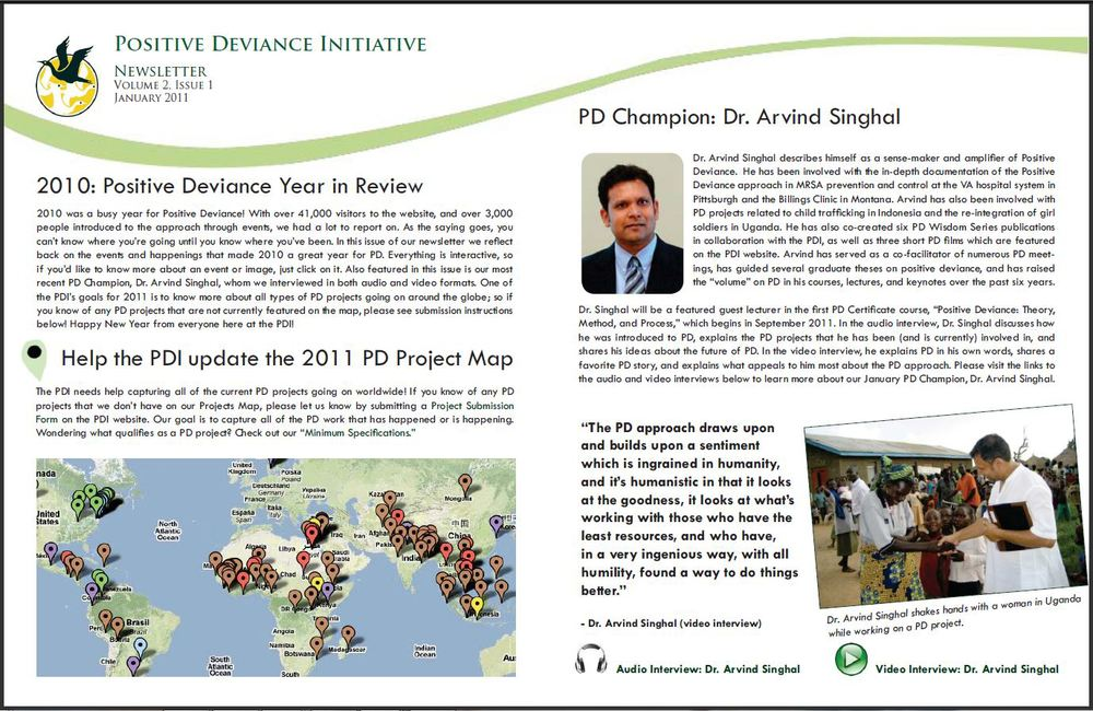 PDI Newsletter Page 1 of 4, January 2011