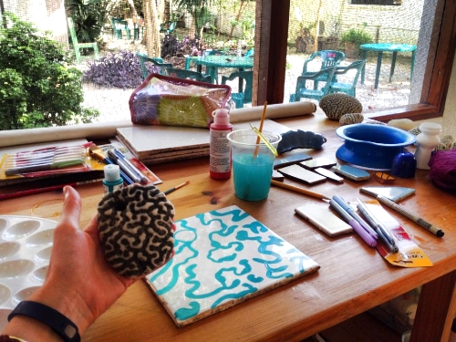 Coral patterns painting #1 in progress...