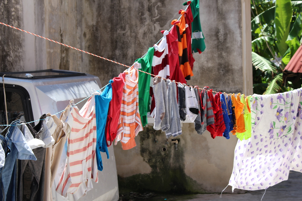 Colorful laundry.