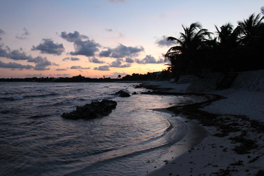 The beach where we released the tortugitas.