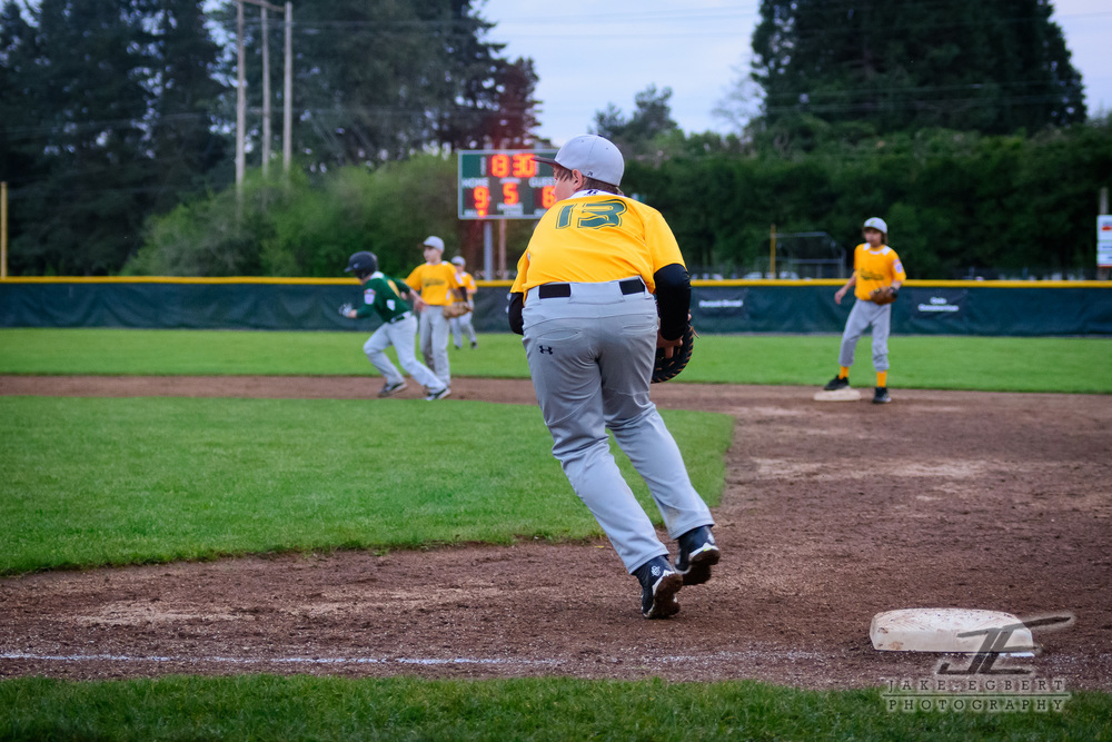 Pitcher to 1st base for the easy out...