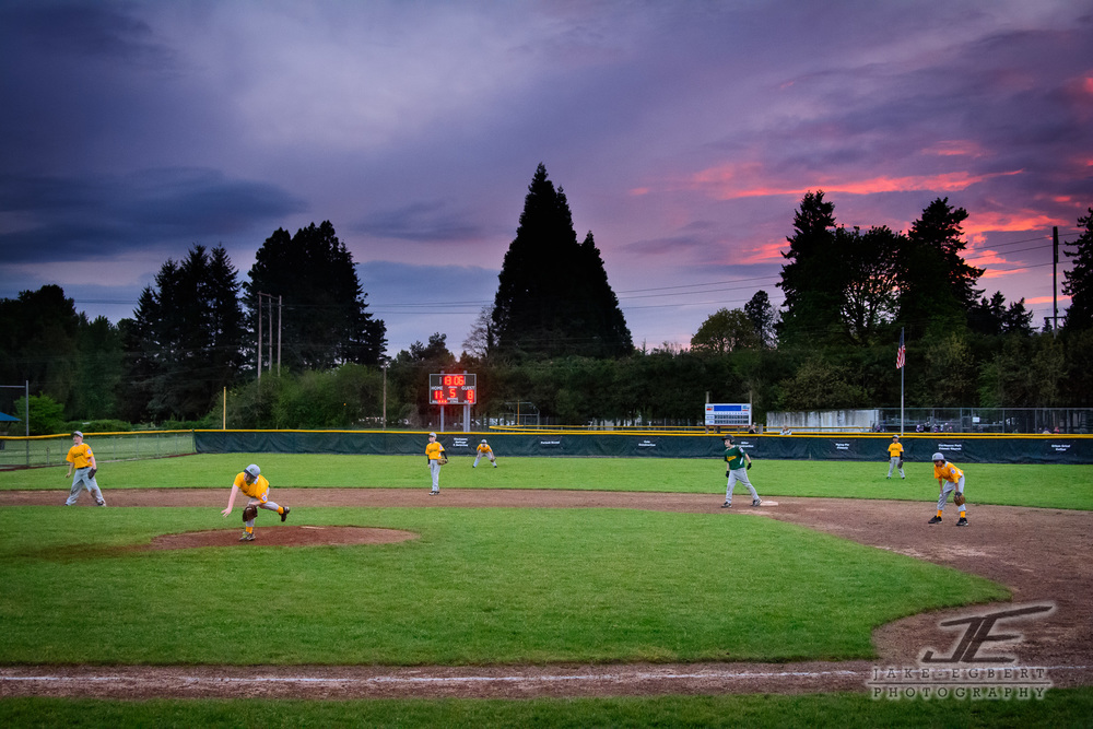 Sunset on the diamond.