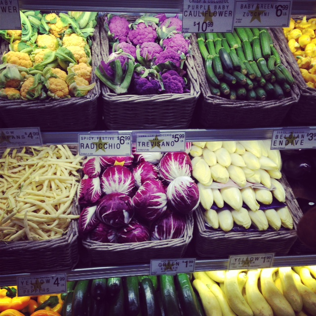 Pretty little vegetables at Union Market