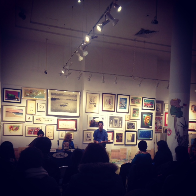 This is Lauren Oliver in conversation with her editor, Rosemary Brosnan at the very lovely  Books of Wonder .