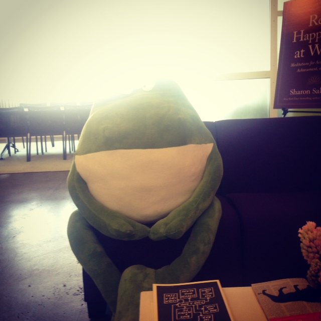 At Algonquin, I shared the reception area with a large frog