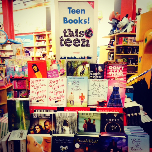 Part of the teen section of the Scholastic shop in SoHo
