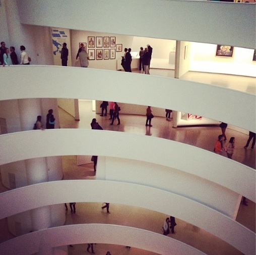 The Guggenheim, of course. I think my favourite gallery experience might be a tie between the  Frick  and  PS1 . (Yeah nah, they're nothing alike.) but I also really enjoyed the  Whitney 's Biennial and the  New Museum .