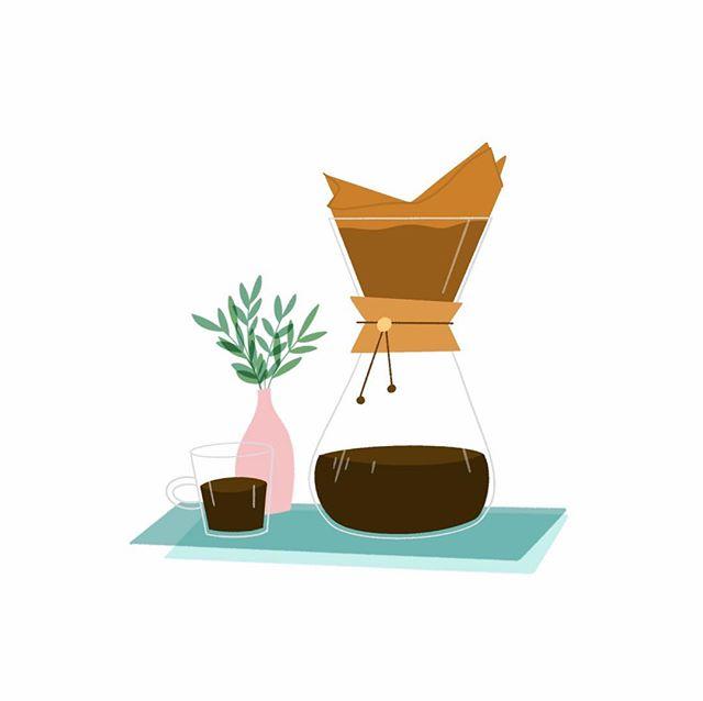 A little coffee illustration ☕️ #illustration #coffee #design