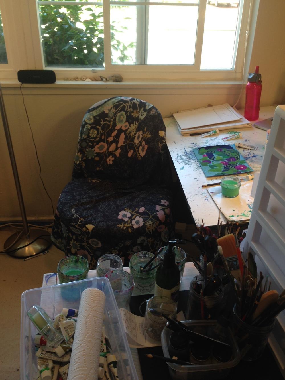 New studio; same old desk.