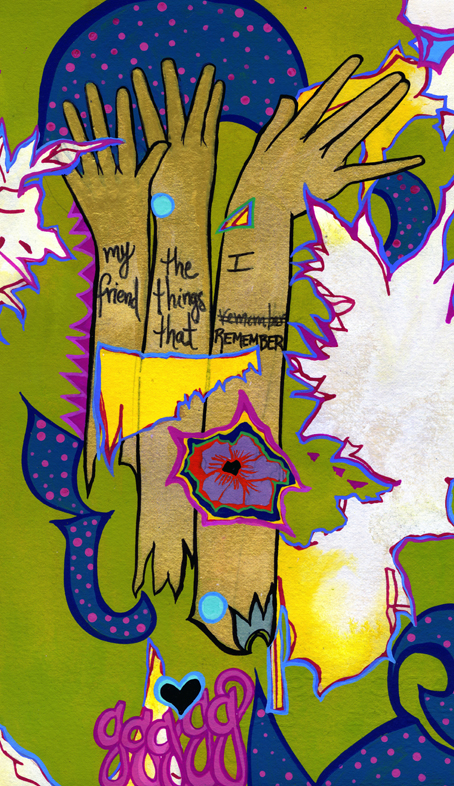 The Things I Remember Gouache on paper 2014 ©Alexis Amann