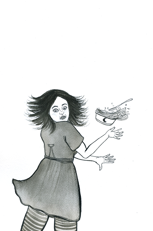 Witch who startles easily. (Prompt: Scared)