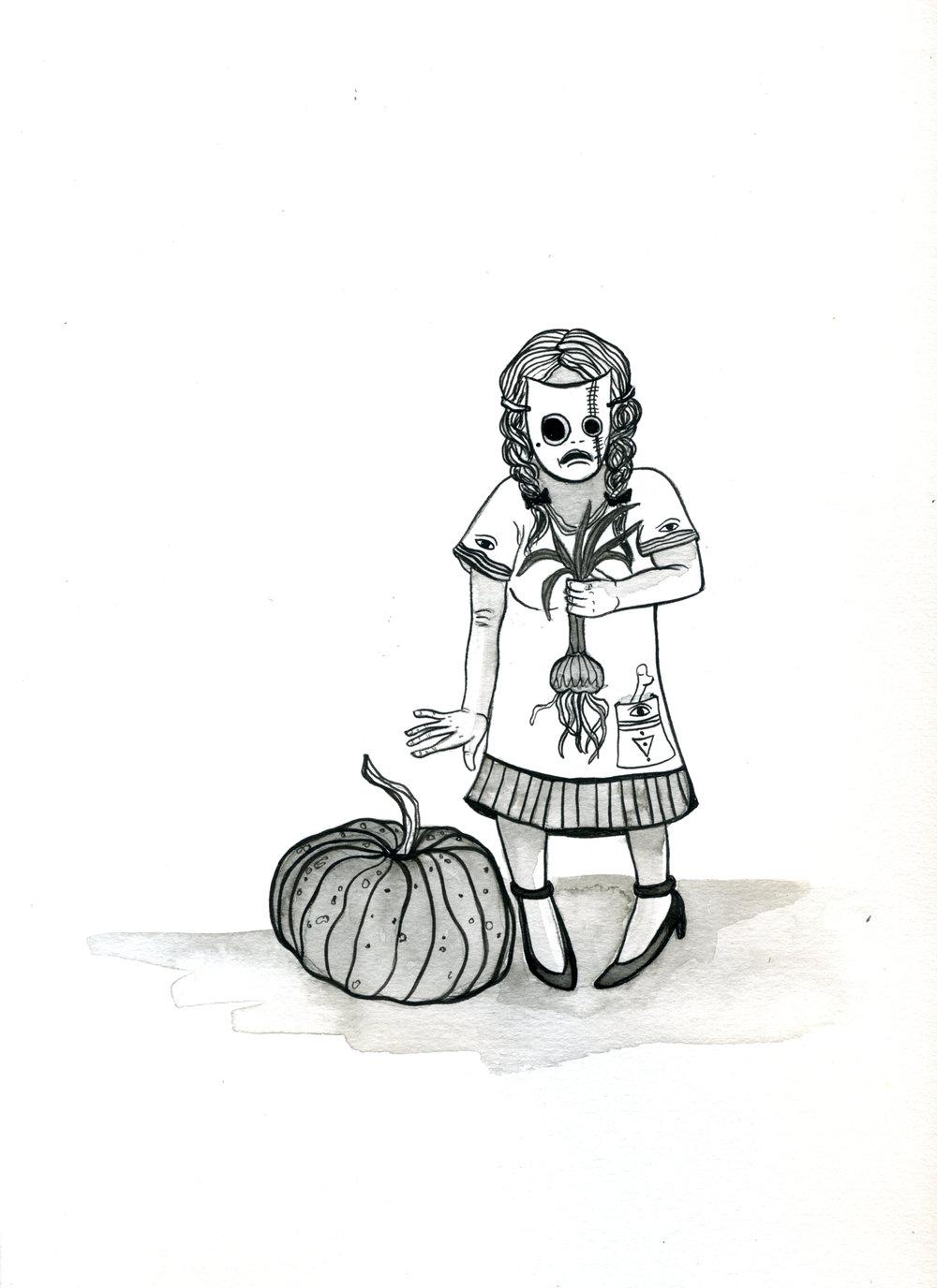 Creepy li'l onion girl.