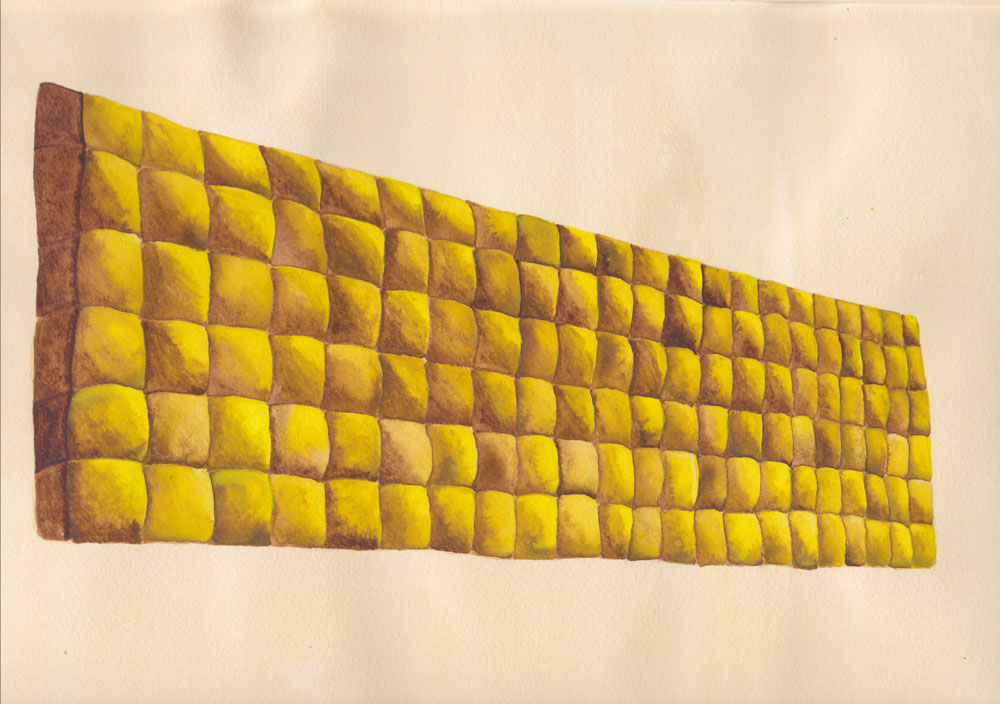 Squeezable Arc,   Watercolor on paper, 21 x 30cm, 2011