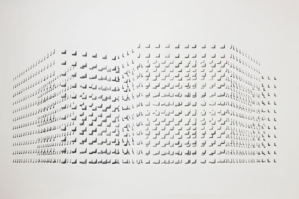 Floating Structure II B  , graphite on paper,  40 x 70 cm, 2013