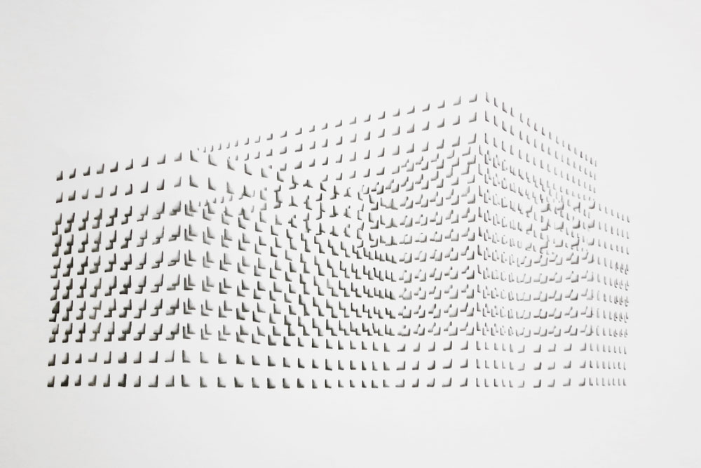 Floating Structure I  , graphite on paper,  40 x 70 cm, 2013