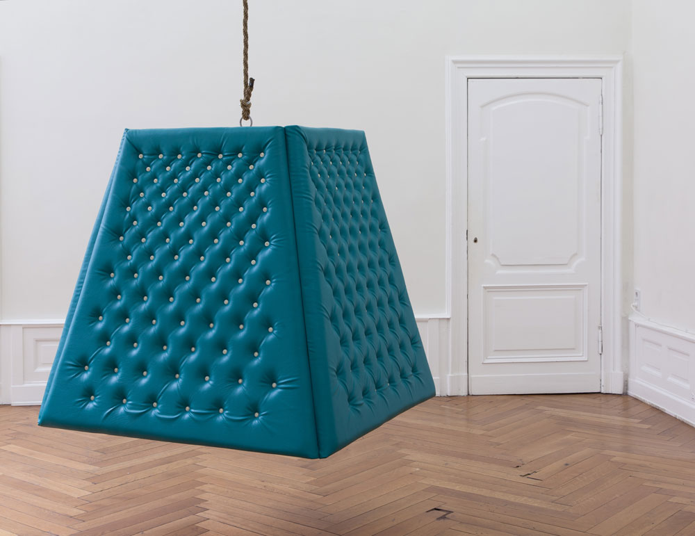 The Motivator (Motivatorn) , rope, wood, foam, upholstered pleather, 2010