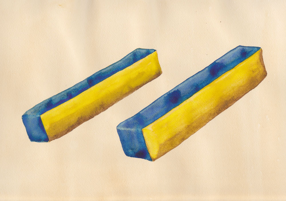 Portable Armrests , watercolor and ink on paper, 21 x 30 cm, 2011