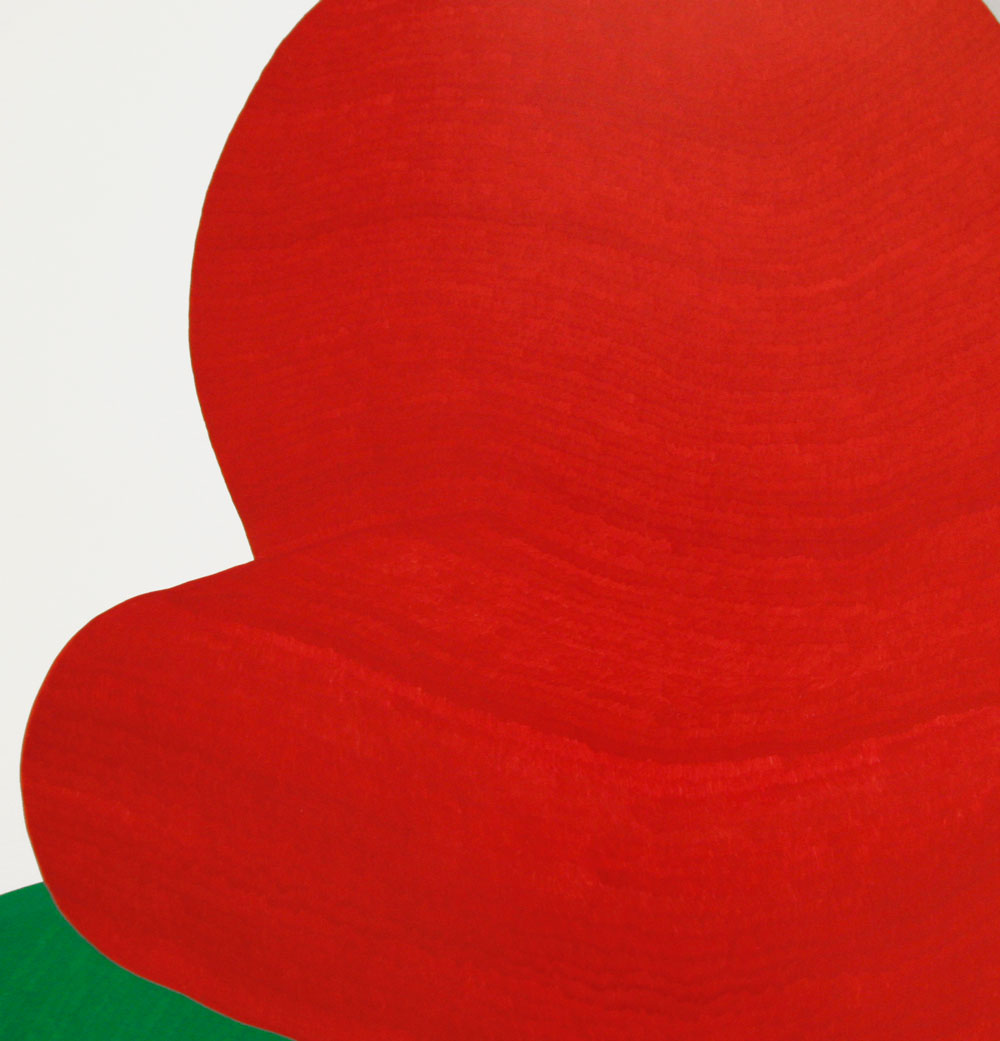 Green and Red Specimens , xylene on paper, 120 x 200 cm, 2008