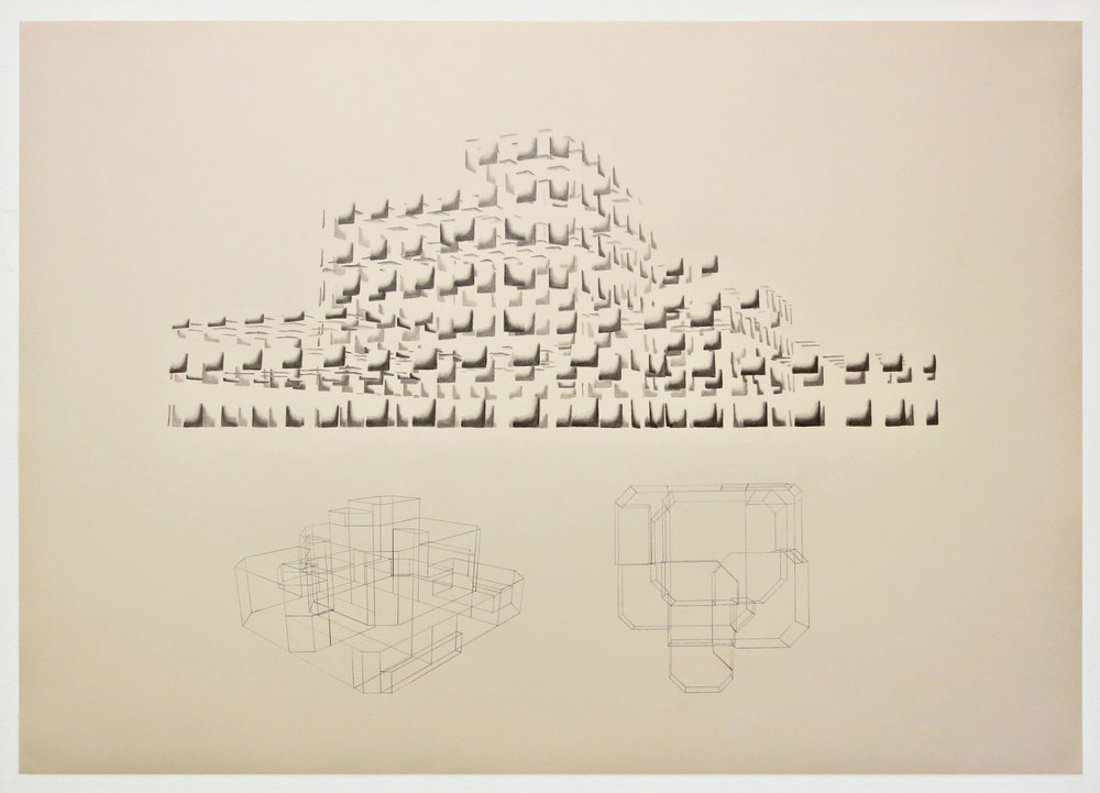 Purpose Factory,  graphite on paper, 84 x 60 cm, 2014