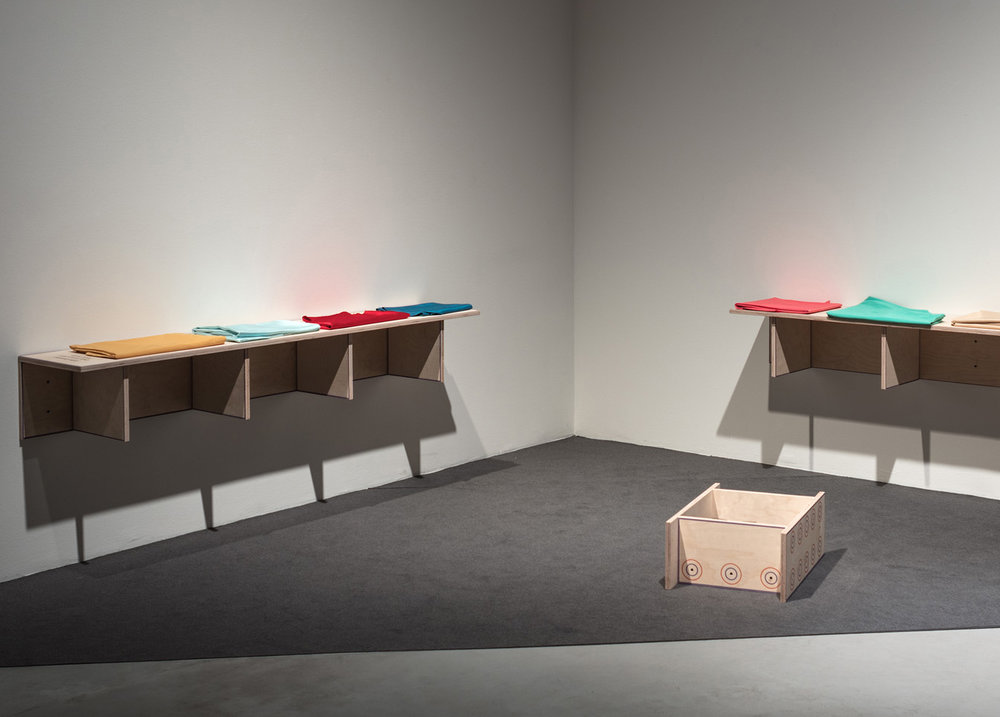 "Installation view from exhibition ""Den Fria Leken,"" Västerås Konstmuseum, Sweden, curated by Katrin Ingelstedt, 2017"