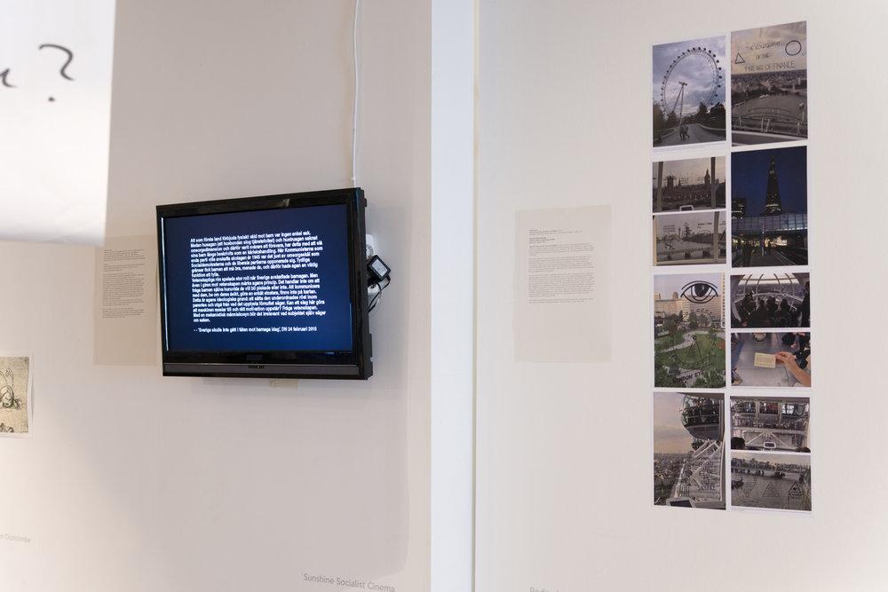 Installation view:Sunshine Socialist Cinema, and Pedro Lasch