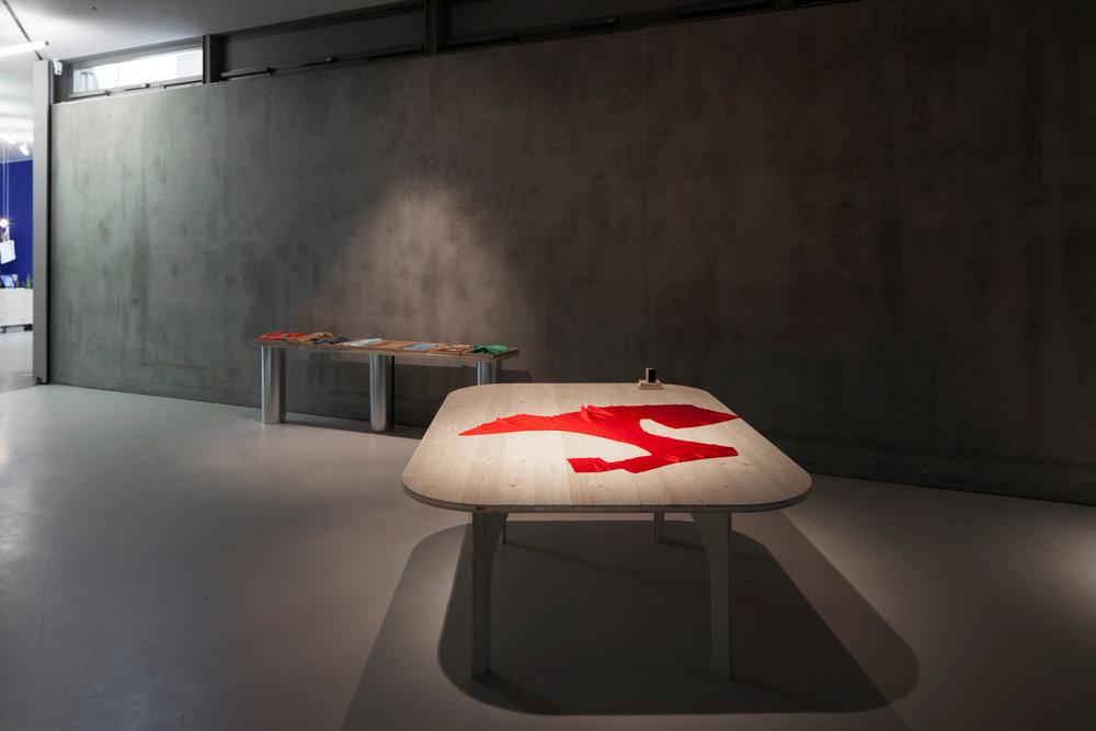 "Installation view, exhibition ""Gaudiopolis"" GfZK, Leipzig, Germany, curated by Franciska Zólyom, 2018, Photo: Wenzel Stählin"