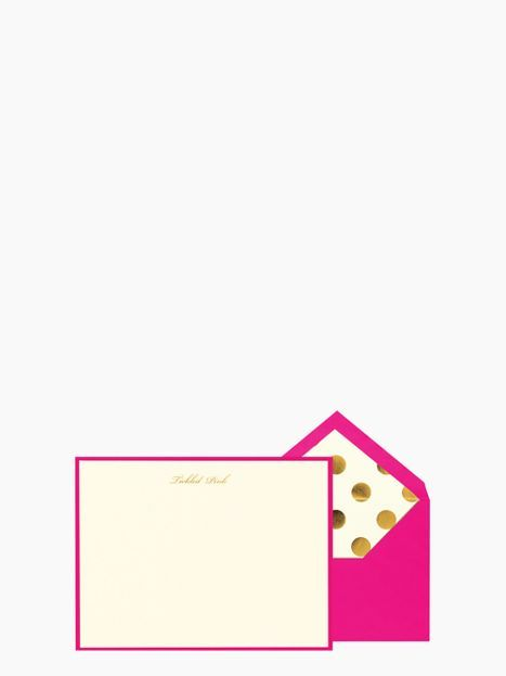Kate Spade Tickled Pink Card Set