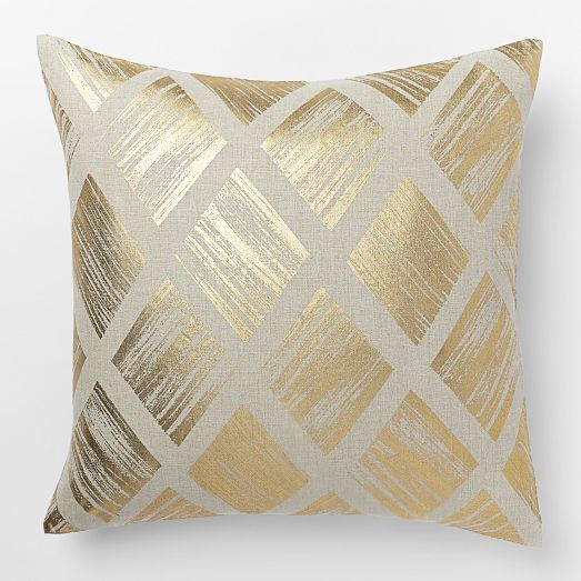 West Elm Metallic Diamond Pillow Cover
