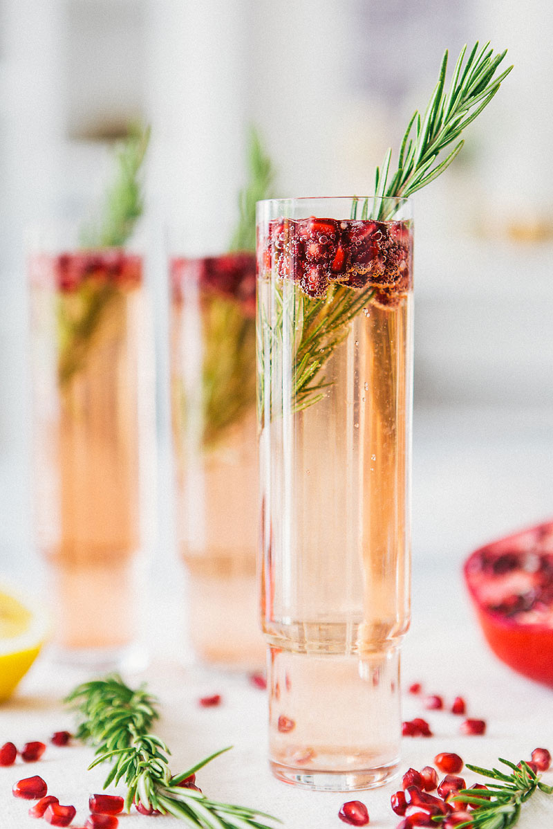 Rosemary Pomegranate Spritzer