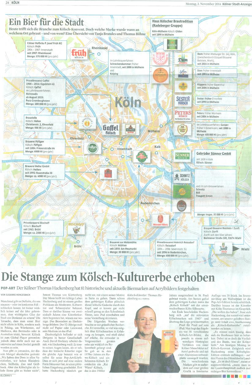 """Art Kölsch in the """"Kölner Stadt-Anzeiger"""""""