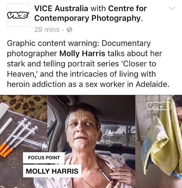 Focus Point with VICE Australia on my work Closer to Heaven. Go to Vice Australia's FB to watch! Link in bio. #viceaustralia #mollyharrisphotography #mollyharrisphoto #documentaryphotography #photography #closertoheaven #vice