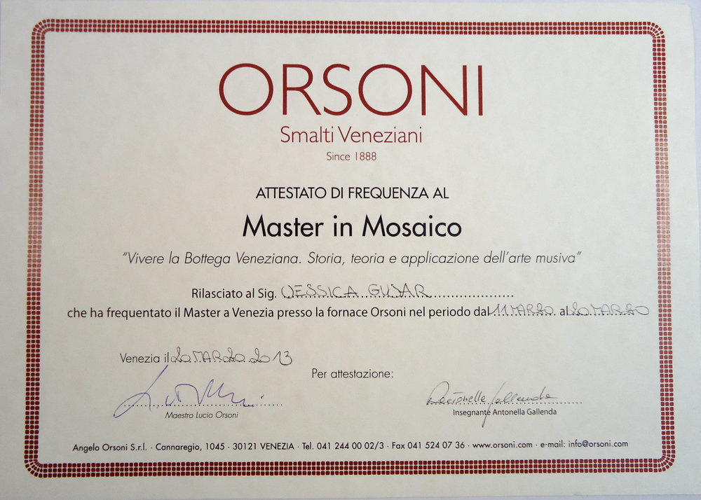 Master in Mosaics Certificate