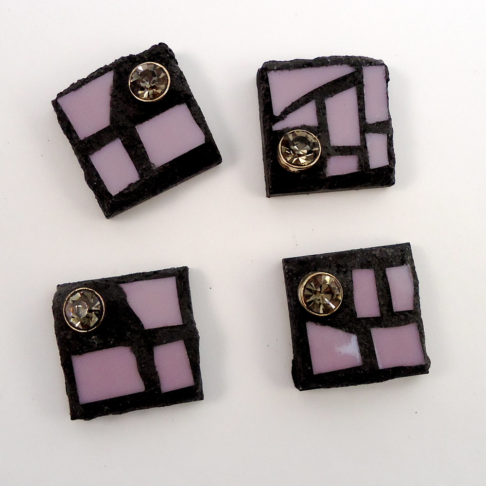 live in mosaic square magnet pink rhinestone.JPG