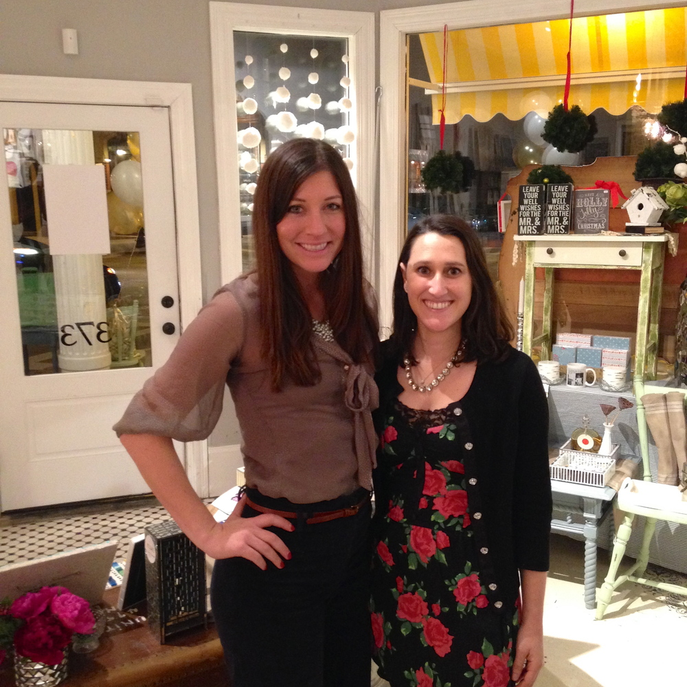 Photo of me with Danielle, owner of Neatly Nested Design & Decor