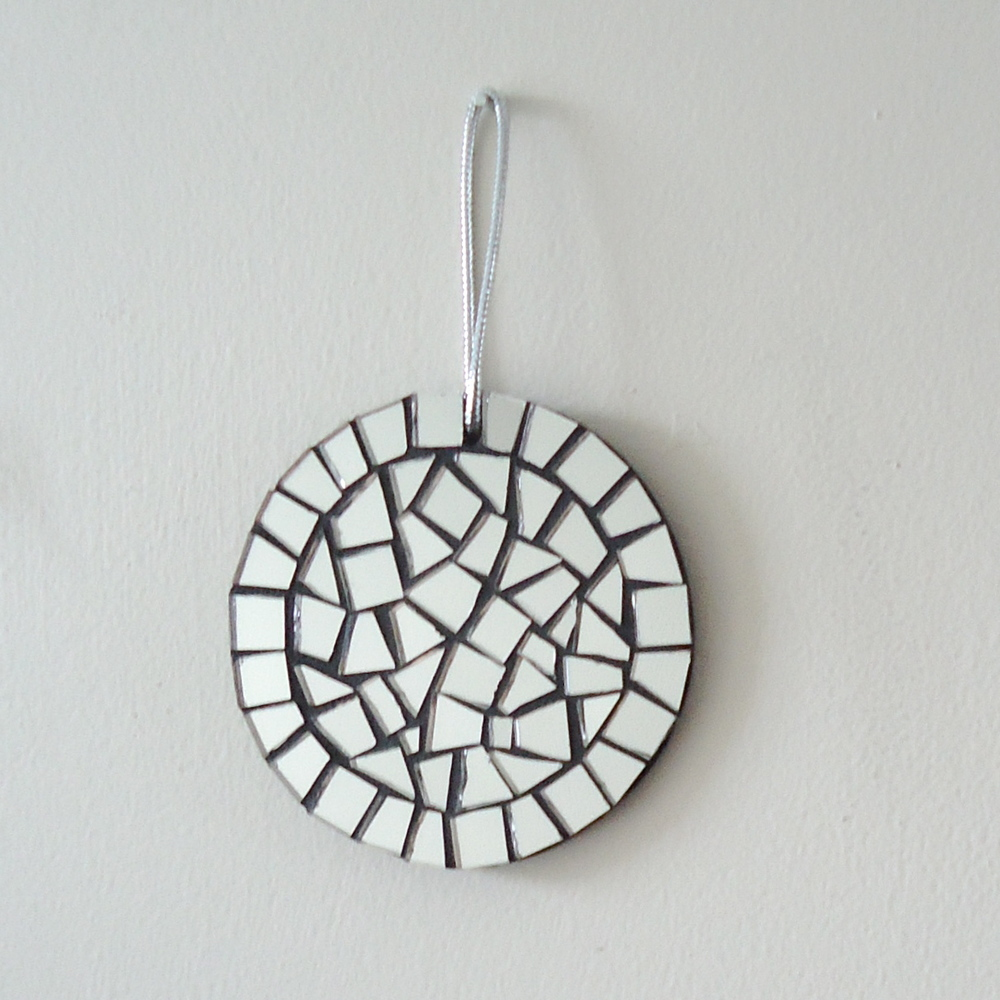 live in mosaics mirror mosaic round ornament.JPG