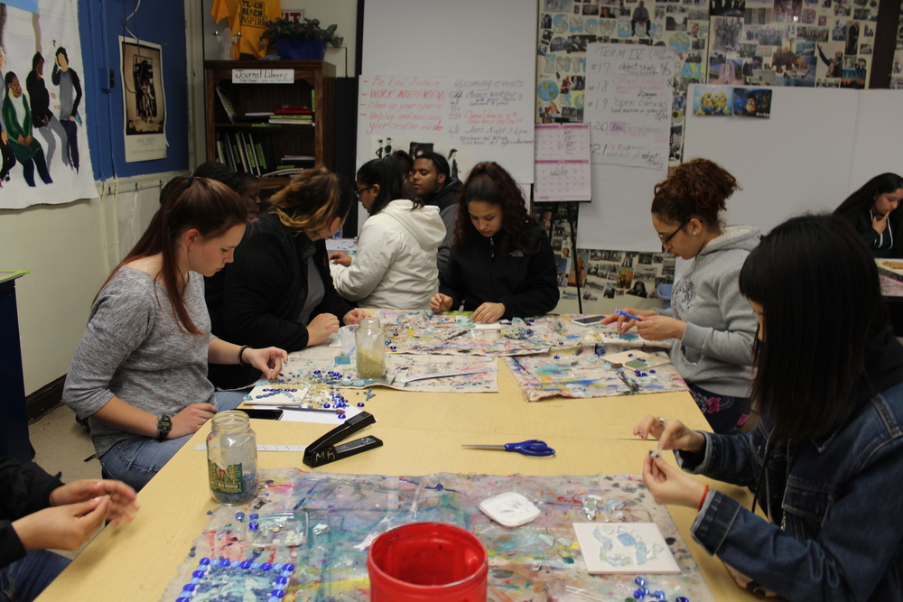 high school mosaic art class.JPG