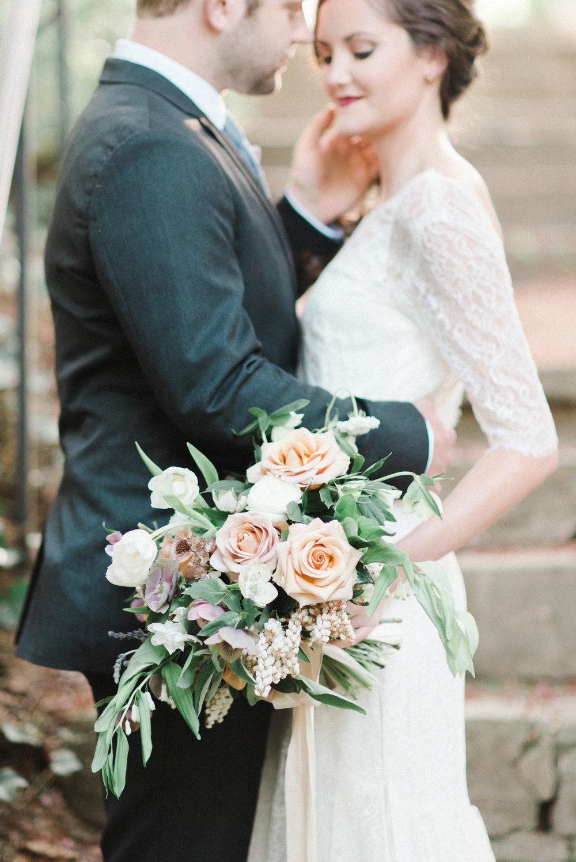 wild green yonder bridal bouquet