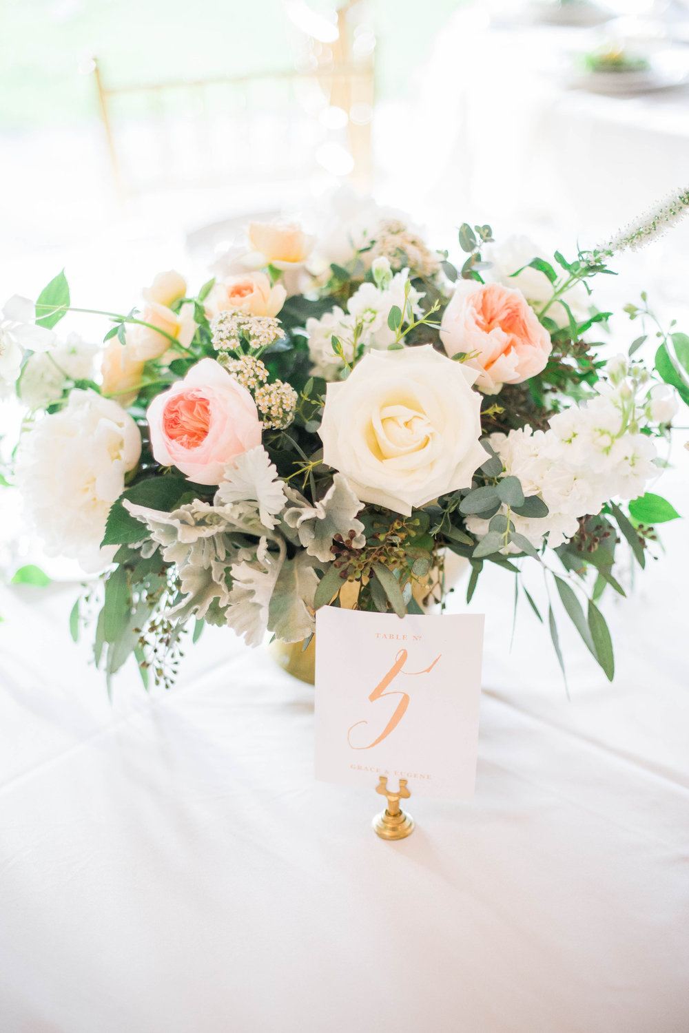 Wild Green Yonder | Blush Gold and Ivory Centerpiece