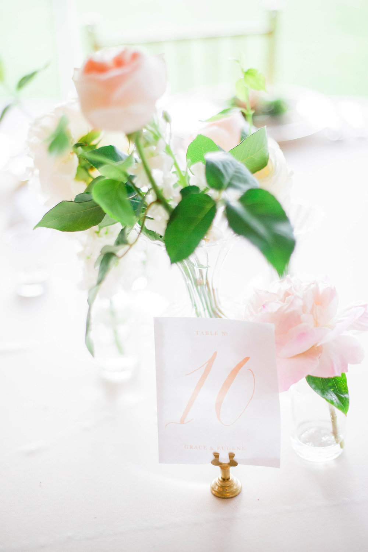 Wild Green Yonder | Garden Rose Bud Vase Centerpiece