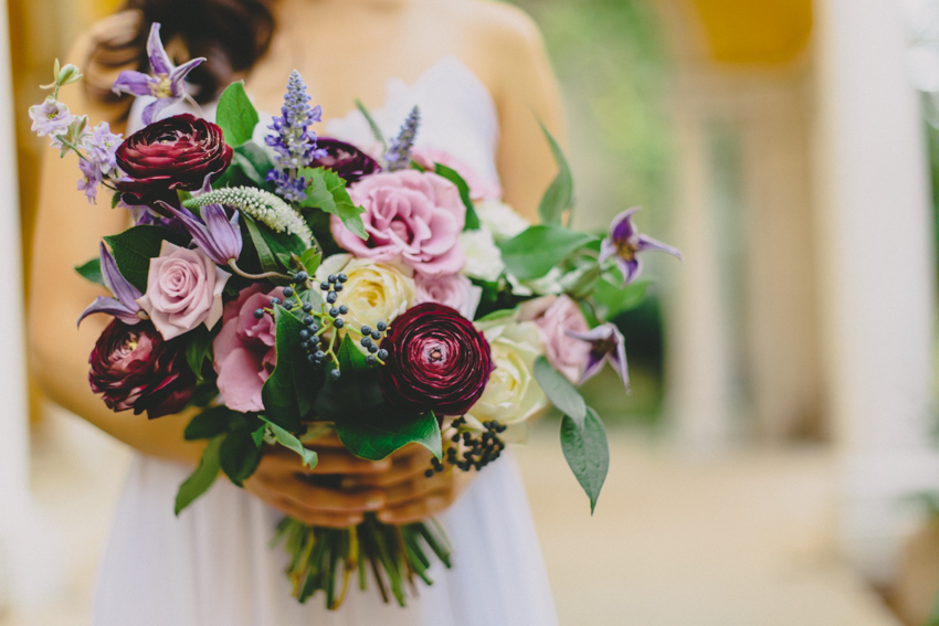 Purple Bridal Bouquet by Wild Green Yonder